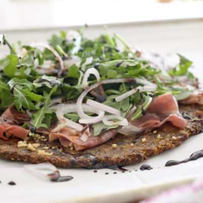 Paleo Prosciutto And Arugula Pizza
