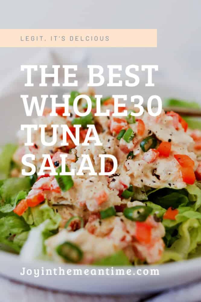 The Best Whole30 Tuna Salad Pinterest banner