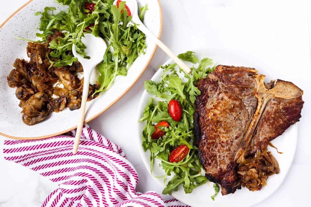 The Perfect (Whole30) Steak + Marinated Mushrooms And Onions