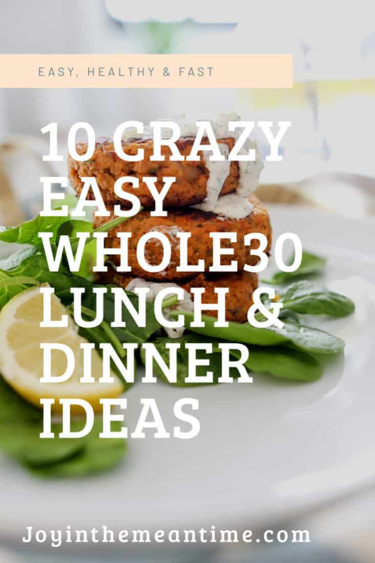 10 Easy Whole30 Lunch Or Emergency Meals Pinterest banner
