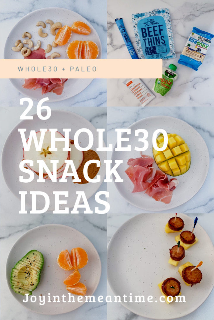 26 Whole30 Snacks Pinterest banner