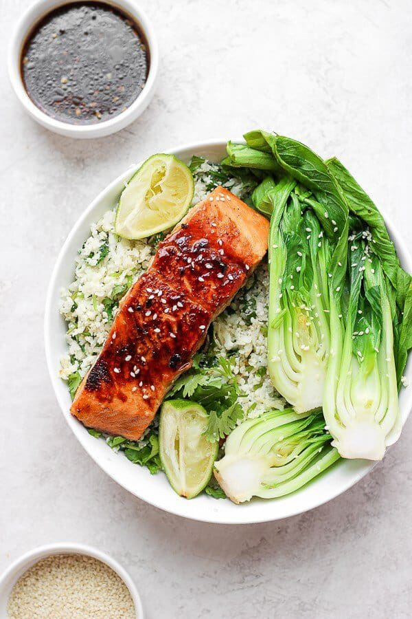 January 13, 2019 meal planning Asian salmon