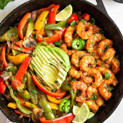 January 13, 2019 meal planning shrimp fajitas