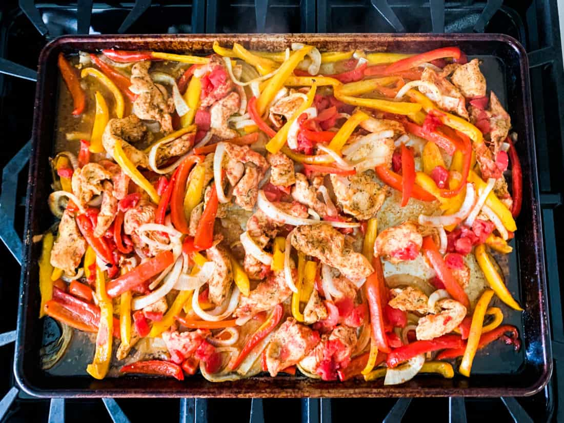 Whole30 Baked Chicken Fajitas