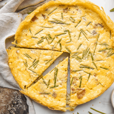 Whole30 Quiche Lorraine with Hash Brown Crust